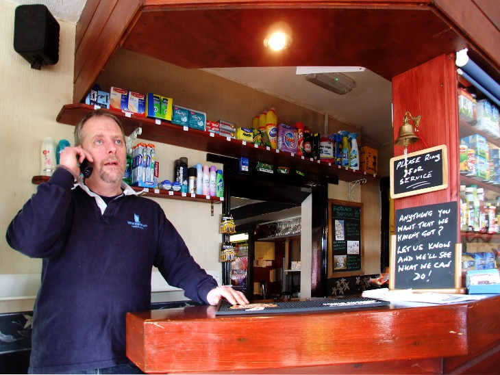 Staff at The Pleasure Boat Shop welcome customers